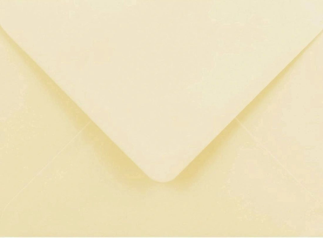 95mm x 122mm Cream Envelopes RSVP Gummed Diamond Flap 100gsm