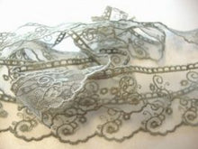 Load image into Gallery viewer, Grey Vintage Tulle Lace Trimming Edging 30mm Width