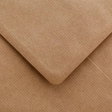Load image into Gallery viewer, C7 Ribbed Envelopes Recycled Kraft Gummed Diamond Flap 100gsm
