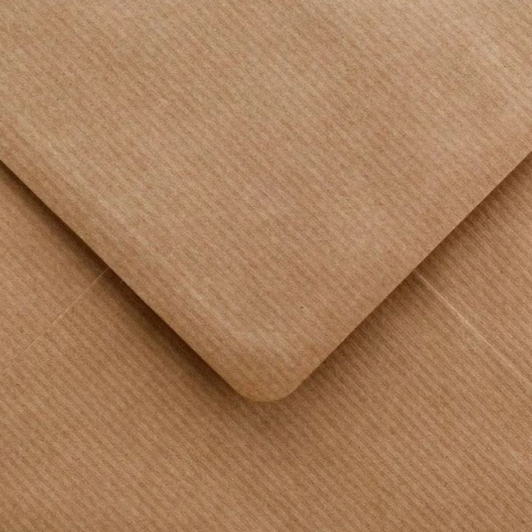 C7 Ribbed Envelopes Recycled Kraft Gummed Diamond Flap 100gsm