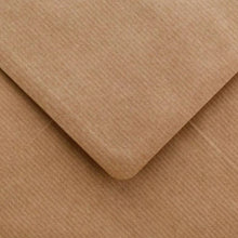 Load image into Gallery viewer, C6 Ribbed Kraft Envelopes Recycled Brown Gummed Diamond Flap 100gsm