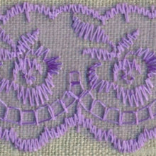 Load image into Gallery viewer, Lilac Coloured Vintage Scalloped Edge Lace Trimming Edging 45mm Width