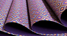 Load image into Gallery viewer, Purple and Blue Luxury Lotus Eyes Decorative Gift Wrap Paper 700mm x 500mm Sheets