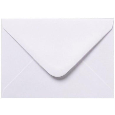 B6 125mm x 175mm White Envelopes Gummed Diamond Flap 100gsm