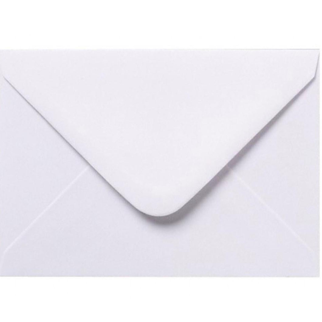 95mm x 122mm White Envelopes RSVP Gummed Diamond Flap 100gsm