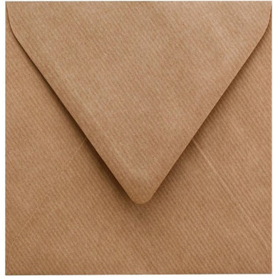 C5 Ribbed Envelopes ECO Kraft Recycled Gummed Diamond Flap 100gsm
