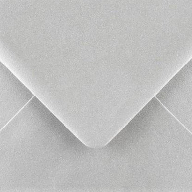 5x7 Metallic Silver Envelopes Gummed 100gsm