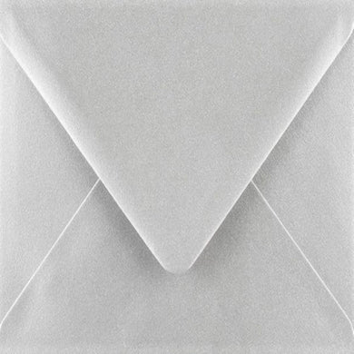 C5 Metallic Silver Envelopes Gummed Diamond Flap 100gsm