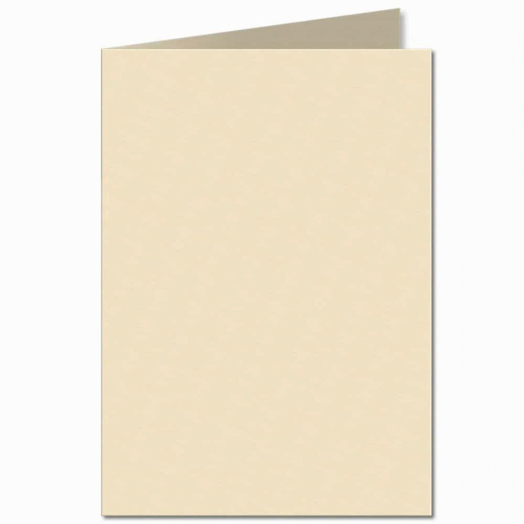 5x7 Cream 300gsm Creased Blank Cards and 5x7 Gummed 100gsm Envelopes