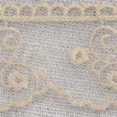 Natural Linen Vintage Tulle Lace Trimming Edging 30mm Width