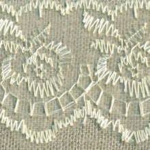 Load image into Gallery viewer, Ivory Cream Coloured Vintage Scalloped Edge Lace Trimming Edging 45mm Width