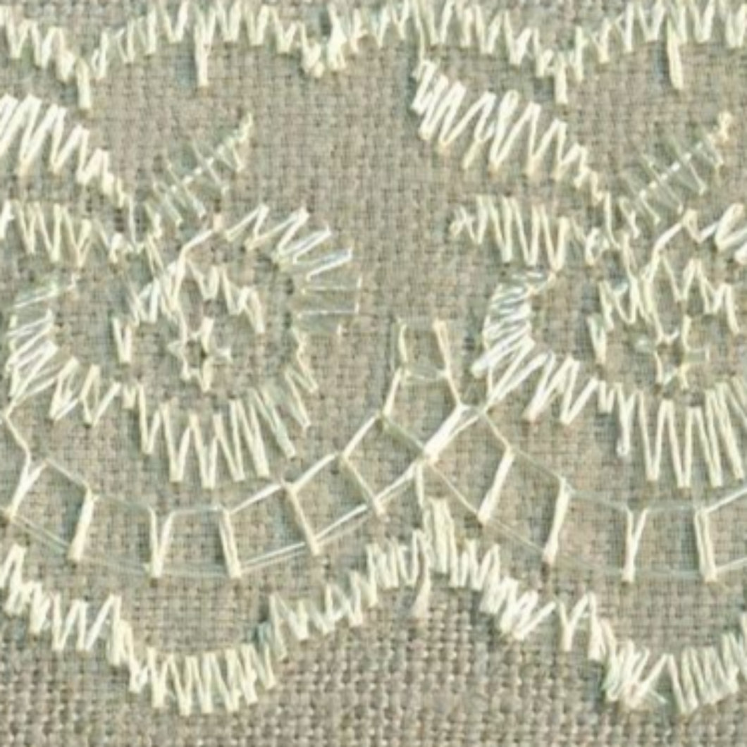 Ivory Cream Coloured Vintage Scalloped Edge Lace Trimming Edging 45mm Width