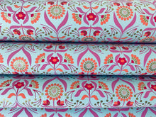 Load image into Gallery viewer, Pink and Blue Luxury Floral Handmade Gift Wrapping Paper 700mm x 500mm Sheets