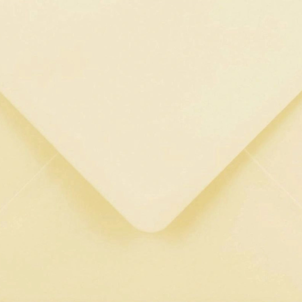 C6 Ivory Cream Envelopes Gummed Diamond Flap Premium 130gsm