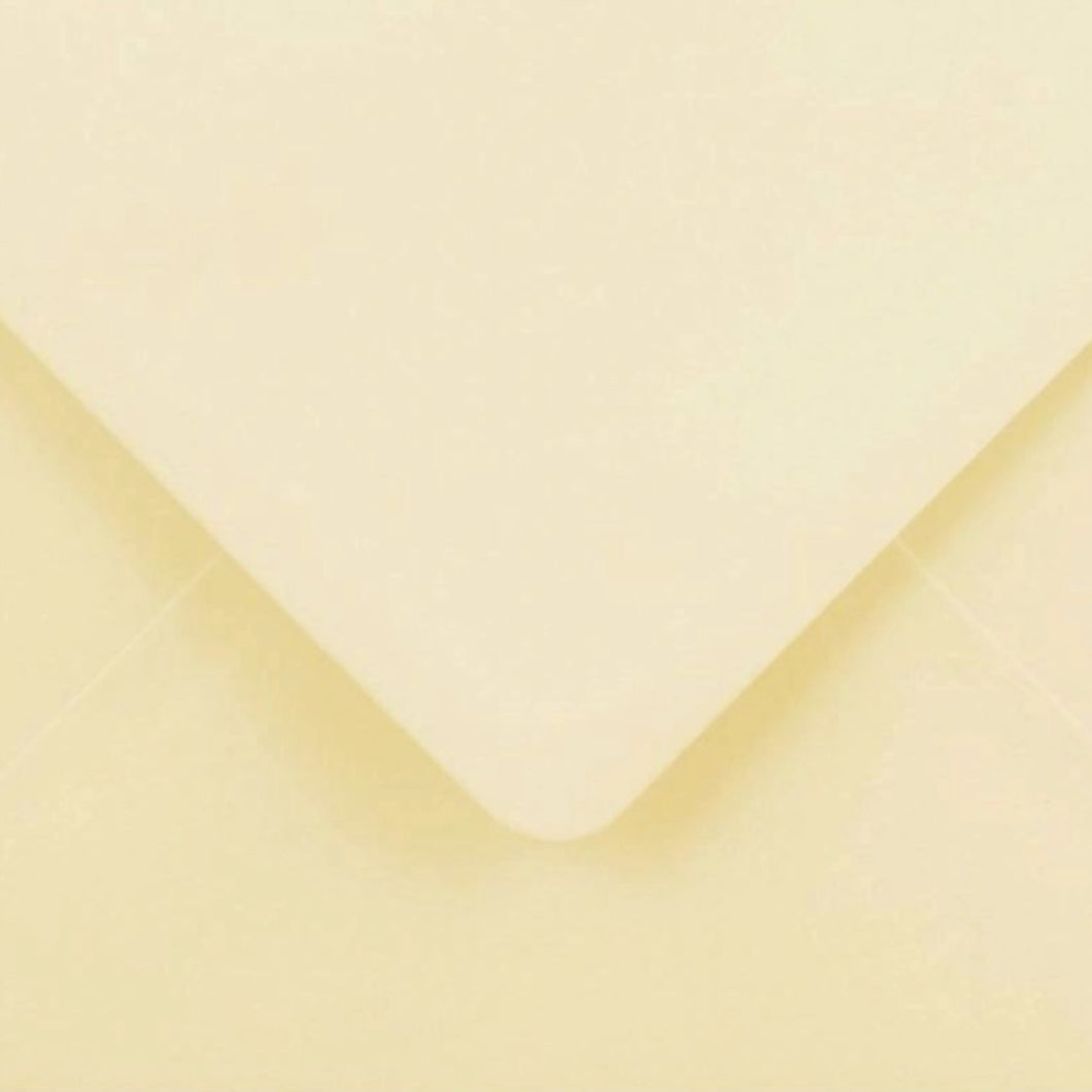 C5 Cream Envelopes Gummed Diamond Flap 100gsm