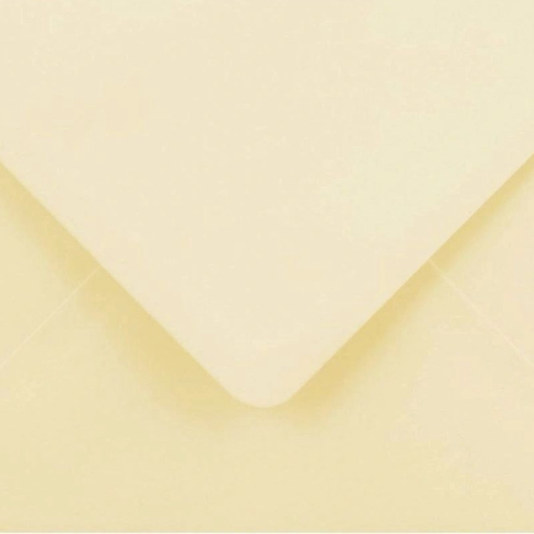 5x7 Cream Envelopes Gummed Diamond Flap 100gsm