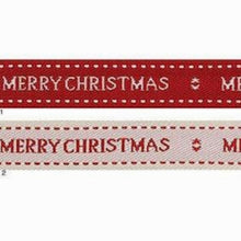 Load image into Gallery viewer, Merry Christmas Design Ribbon 15mm Width