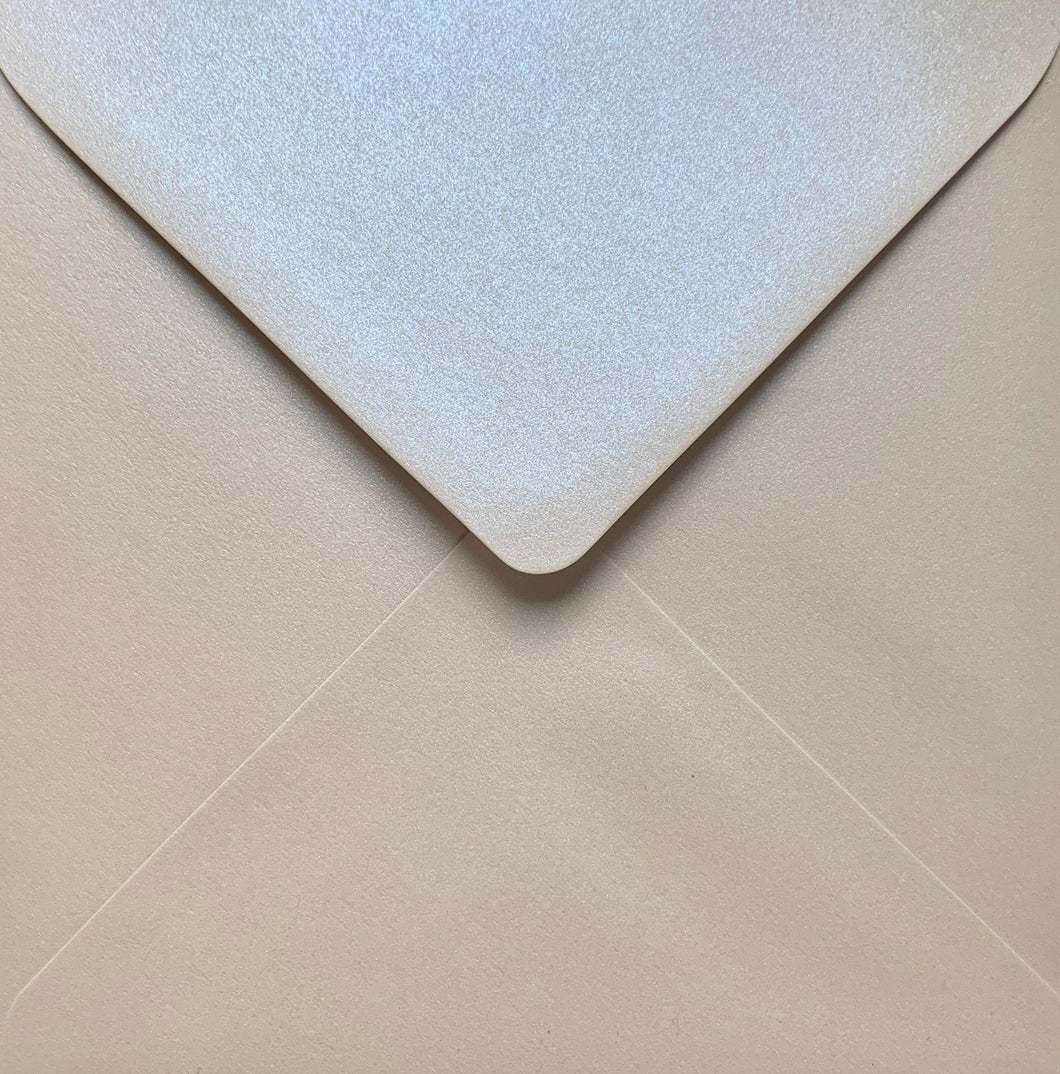 6x6 Virtual Pearl Square Envelopes Pearlescent Gummed Diamond Flap Premium 120gsm