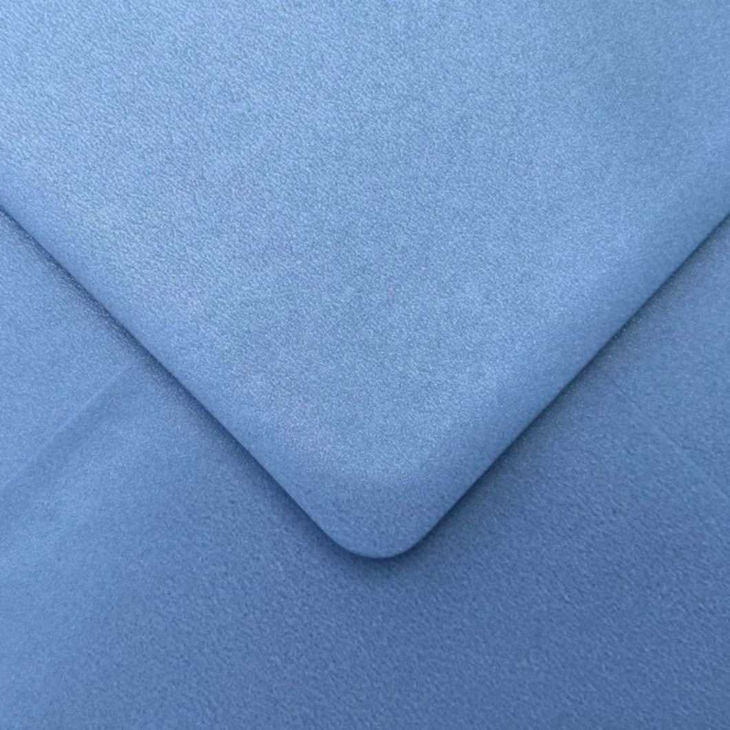 C6 Stargazer Blue Envelopes Pearlescent Gummed Diamond Flap 100gsm