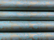 Load image into Gallery viewer, Teal Luxury Splendour Handmade Gift Wrapping Paper 700mm x 500mm Sheets