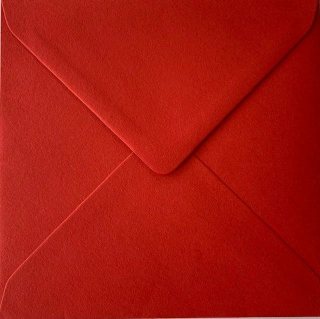 6x6 Colorset Bright Red Square Envelopes Recycled Premium 120gsm