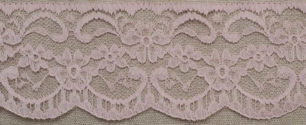 Baby Pink Lace Trim Edging 63mm Width