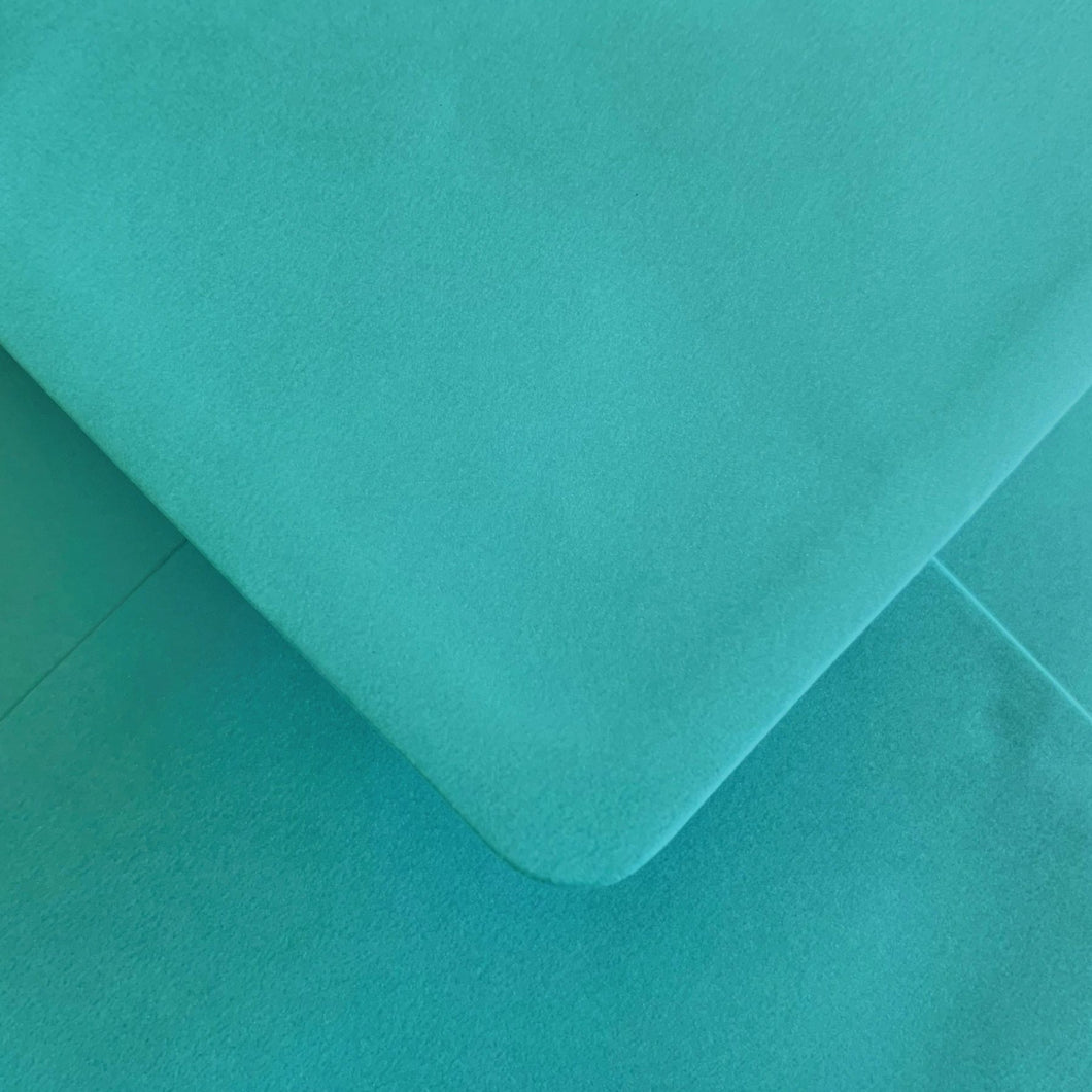 C6 Turquoise Pearlescent Envelopes Gummed Diamond Flap 100gsm