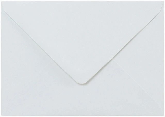 C5 White Envelopes Gummed Diamond Flap 100gsm