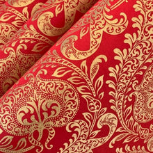 Load image into Gallery viewer, Red and Gold Luxury Splendour Design Handmade Gift Wrapping Paper 700mm x 500mm Sheets