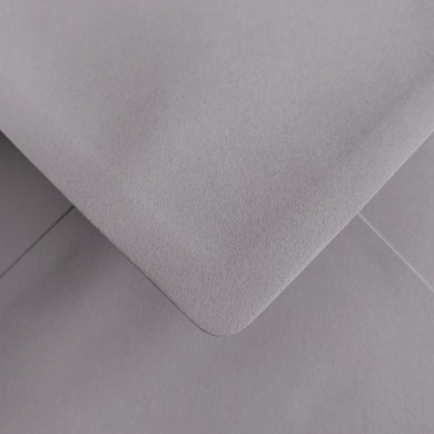 C6 Soft Owl Grey Envelopes Gummed Diamond Flap 100gsm