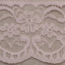 Load image into Gallery viewer, Baby Pink Lace Trim Edging 63mm Width