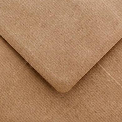 5x7 Ribbed Envelopes Square Recycled Kraft Gummed Diamond Flap 100gsm