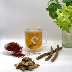 Ginger, Liquorice & Greek Saffron Herbal Tea. Organic Herbal Tea.