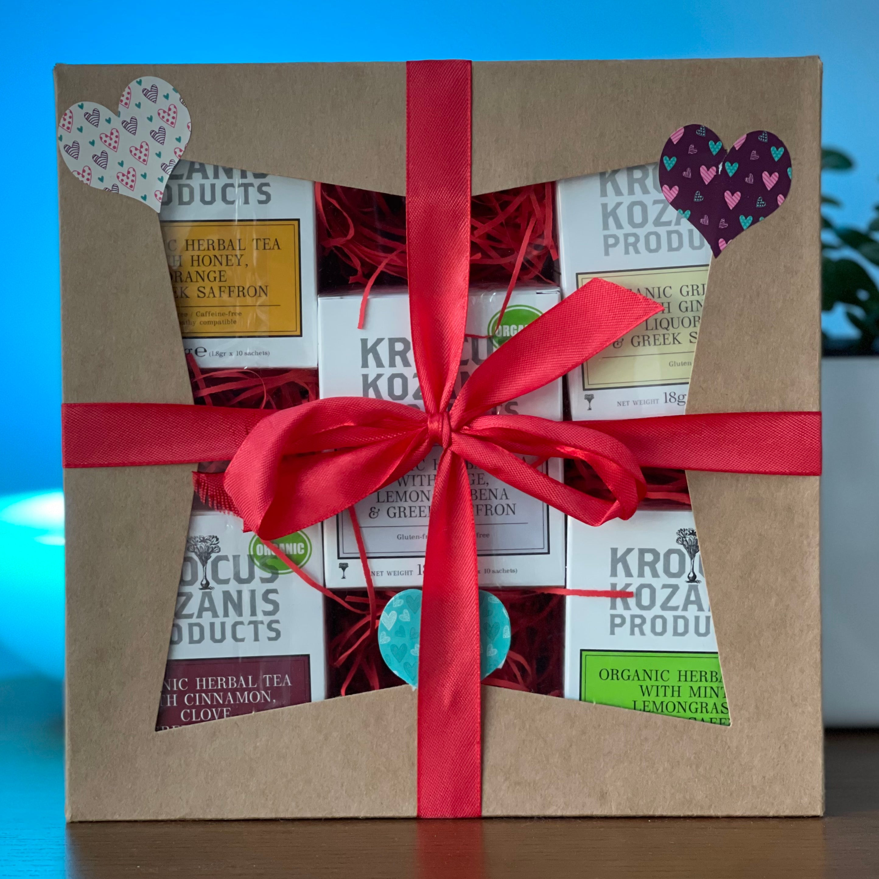 Tea Gift Set - Organic Super Tea Collection 5 Packs of 10 Tea Bags (50 Bags in total)