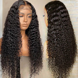 High Qualtiy Kinky Curly Lace Closure Wig 180% Density Human Hair Virgin Hair