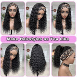 Affordable Deep Wave Headband Wig High Density Human Virgin Hair