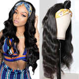Body Wave Affordable Headband Wig 180% Density High Quality Human Hair