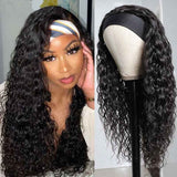 Soft Bouncy Affordable Headband Wig Water Wave High Full Density