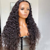 HD Transparent Glueless 180% Density Pre Plucked Deep Curly Lace Front Wigs