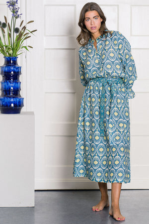 The Artemesia Skirt Ikat Blue