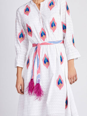 The Ikat Pink Belt Feathers