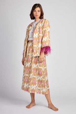 The Blanket Flower Jacket Ikat Olive