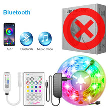 Load image into Gallery viewer, RiRi won SMD 5050 RGB LED Strip Light 2835 10M 5M LED Lights rgb Leds tape diode ribbon Flexible Bluetooth Control DC12V Adapter
