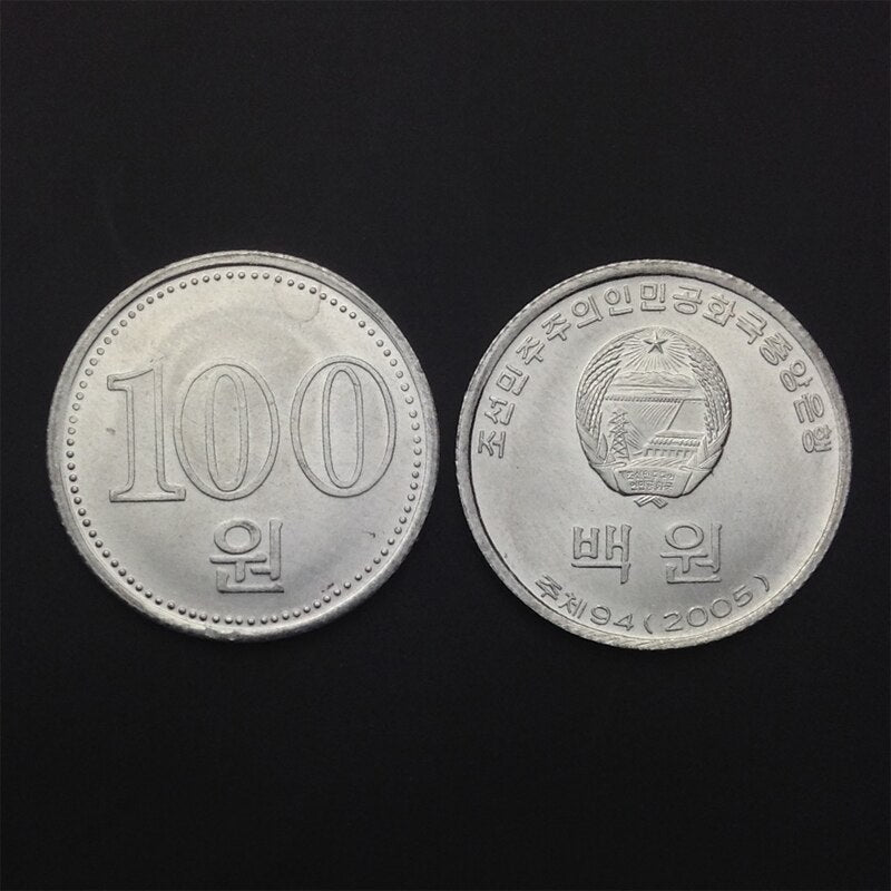 North Korea 100 won New Genuine Original Coins 100% Real Issuing Coins Unc