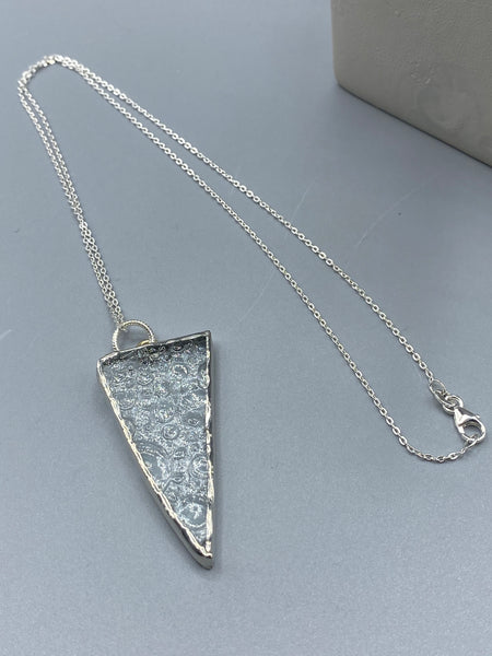 Clear Textured Glass Pendant