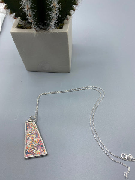 Clear Dichroic Glass Pendant