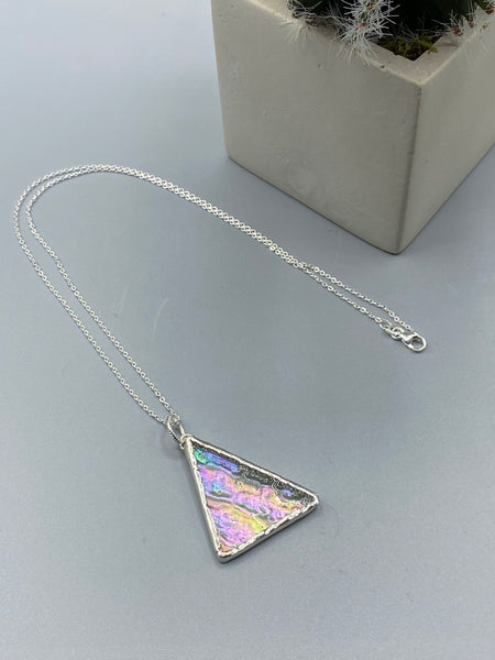 Clear Iridescent Pendant