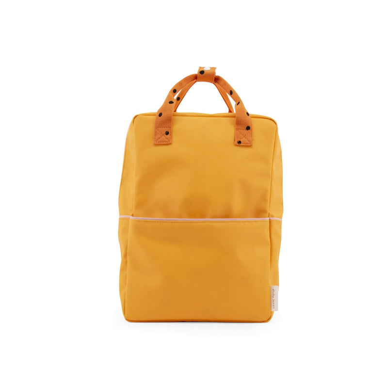 sticky lemon freckles backpack large sunny yellow carrot orange candy pink