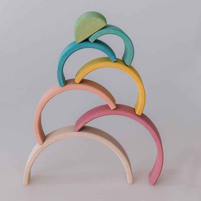 avdar rainbow stacker pastel small