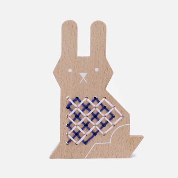 Moon Picnic Cross Stitch Rabbit